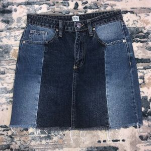 BDG | Two-tone Jean Skirt size small